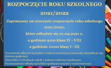 plakat rozpoczęcie roku szkolnego